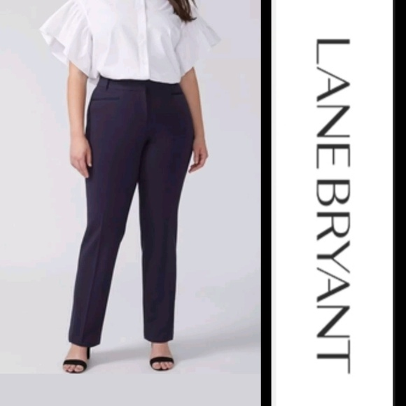 371f6a63964 Navy Blue The Lena Moderately Curvy Pants 20W. NWT. Lane Bryant